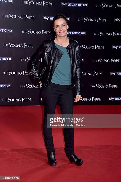 Lucia Mascino walks the red carpet at 'The Young Pope' premiere on October 9 2016 in Rome Italy