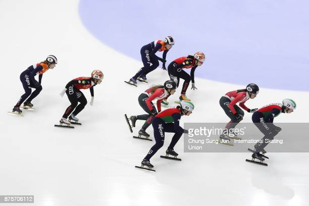 Lucia Peretti and Cecilia Maffei of Italy Jamie Macdonald and Kasandra Bradette of Canada Yihan Guo and Yutong Han of China and Rianne de Vries and...