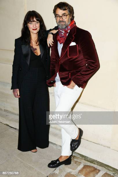 Lucia Pica and Thomas Dupre de Saint Maur attend the Chanel 'Code Coco' Watch Launch Party as part of the Paris Fashion Week Womenswear Spring/Summer...