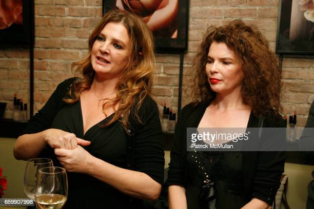 Lucia Pieroni and Paola Pieroni attend Cle de Peau Beaute Spring 2010 Cocktail Reception to Benefit More Gardens at Ze Cafe on December 1 2009 in New...