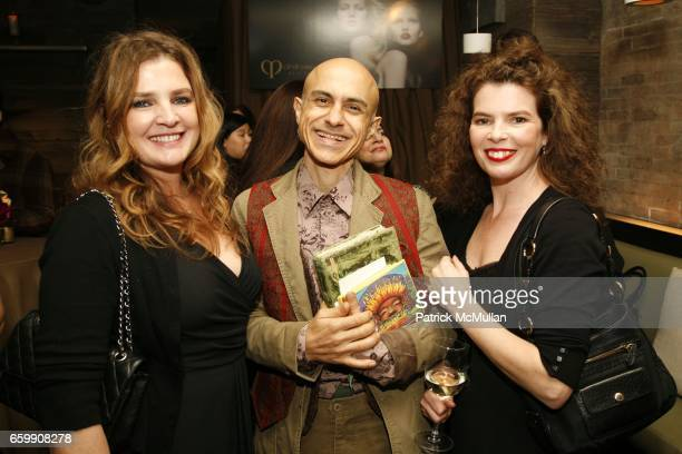 Lucia Pieroni Aresh Javadi and Paola Pieroni attend Cle de Peau Beaute Spring 2010 Cocktail Reception to Benefit More Gardens at Ze Cafe on December...