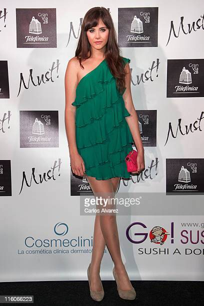 Lucia Ramos attends 'Must' awards 2011 at Telefonica Store on June 14 2011 in Madrid Spain