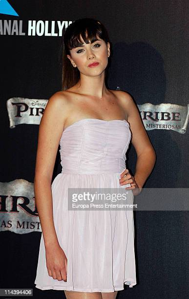 Lucia Ramos attends 'Pirates Of The Caribbean On Stranger Tides' premiere at Kinepolis Cinema on May 18 2011 in Madrid Spain