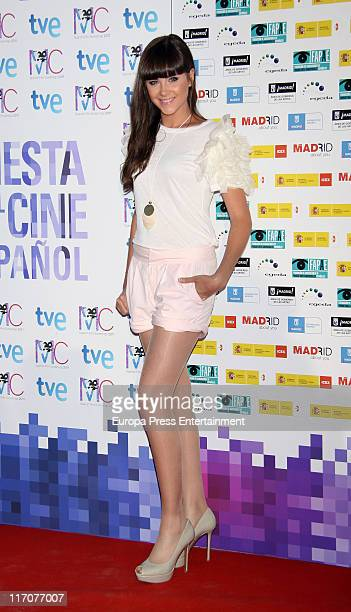 Lucia Ramos attends 'Spanish Night Cinema' party at Cecilio Rodriguez Gardens in Retiro Park on June 20 2011 in Madrid Spain
