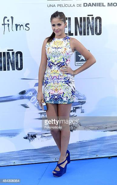 Lucia Ramos attends the premiere of 'El Nino' at Kinepolis Cinema on August 28 2014 in Madrid Spain