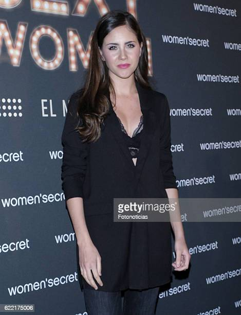 Lucia Ramos attends the Women'Secret first musical presentation at the Circulo de Bellas Artes on November 10 2016 in Madrid Spain