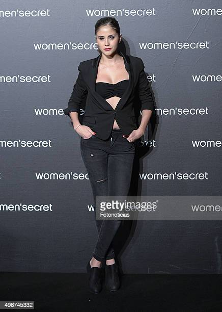 Lucia Ramos attends the Women'Secret Videoclip Presentation at La Riviera on November 11 2015 in Madrid Spain