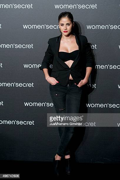 Lucia Ramos attends to the presentation of the Women'secret videoclip at La Riviera on November 11 2015 in Madrid Spain