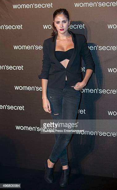 Lucia Ramos attends Women's Secret videoclip premiere at Sala La Riviera on November 11 2015 in Madrid Spain