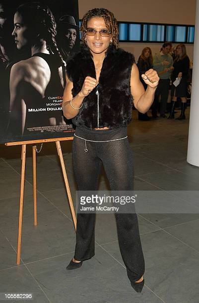 Lucia Rijker during 'Million Dollar Baby' New York City Premiere Arrivals at Museum Of Modern Art in New York City New York United States