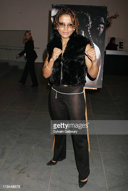 Lucia Rijker during Warner Bros private screening of 'Million Dollar Baby' at Museum of Modern Art in New York New York United States