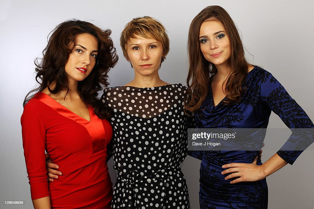 L-R <a gi-track='captionPersonalityLinkClicked' href=/galleries/search?phrase=Lucia+Siposova&family=editorial&specificpeople=7720644 ng-click='$event.stopPropagation()'>Lucia Siposova</a>, Dinara Drukarova and <a gi-track='captionPersonalityLinkClicked' href=/galleries/search?phrase=Gabriela+Marcinkova&family=editorial&specificpeople=7720643 ng-click='$event.stopPropagation()'>Gabriela Marcinkova</a> pose during the '360' portrait session during The 55th BFI London Film Festival held at The Vue Leicester Square on October 12, 2011 in London, England.