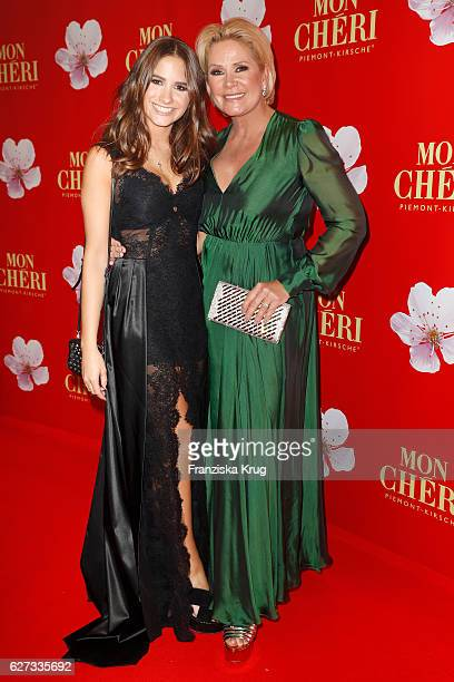 Lucia Strunz and her mother Claudia Effenberg attend the Mon Cheri Barbara Tag at Postpalast on December 2 2016 in Munich Germany
