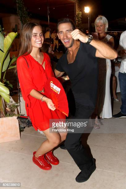 Lucia Strunz and Marcel Remus attend the Remus Lifestyle Night on August 3 2017 in Palma de Mallorca Spain