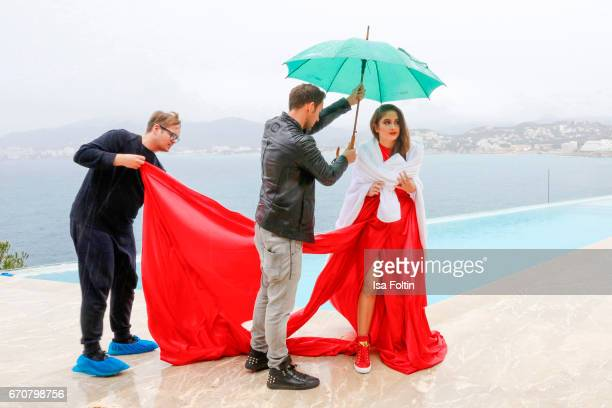 Lucia Strunz and Marcel Remus behind the scenes at the Photoshooting for Marcel Remus shoe collection on March 25 2017 in Palma de Mallorca Spain
