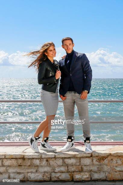 Lucia Strunz and Marcel Remus behind the scenes at the Photoshooting with Lucia Strunz for Marcel Remus shoe collection on March 25 2017 in Palma de...