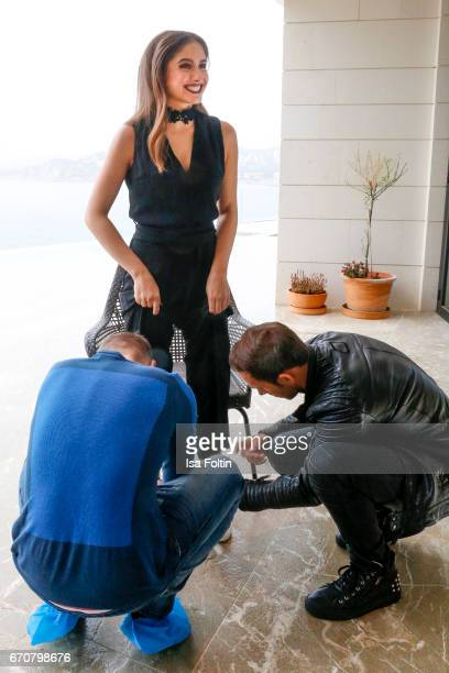 Lucia Strunz behind the scenes at the Photoshooting for Marcel Remus shoe collection on March 25 2017 in Palma de Mallorca Spain