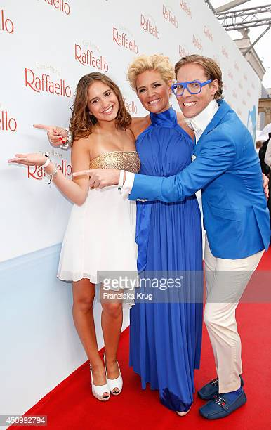 Lucia Strunz Claudia Effenberg and Jens Hilbert attend the Raffaello Summer Day 2014 on June 21 2014 in Berlin Germany