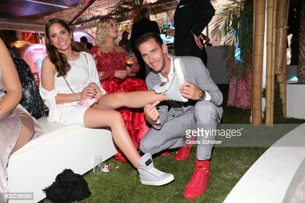 Lucia Strunz daughter of Claudia Effenberg and Thomas Strunz wears sneakers by Marcel Remus during the Raffaello Summer Day 2017 to celebrate the...