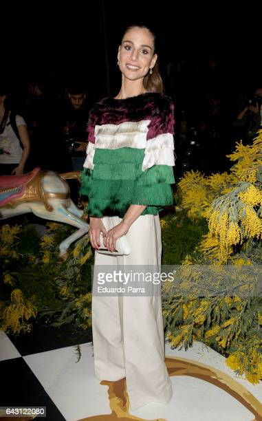 Lucia Villalon attends the front row of Jorge Vazquez show during Mercedes Benz Fashion Week Madrid Autumn / Winter 2017 at Ifema on February 20 2017...