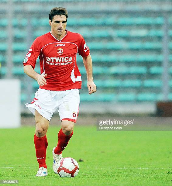 Lucian German Zavagno of AC Ancona in action during the Serie B match between AC Ancona and Vicenza Calcio at Del Conero Stadium on November 15 2009...