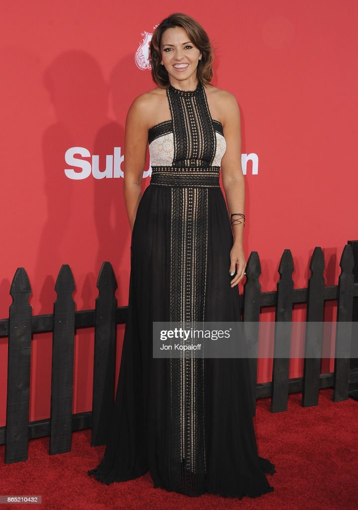 Luciana Barroso arrives at the Los Angeles Premiere 'Suburbicon' at Regency Village Theatre on October 22, 2017 in Westwood, California.