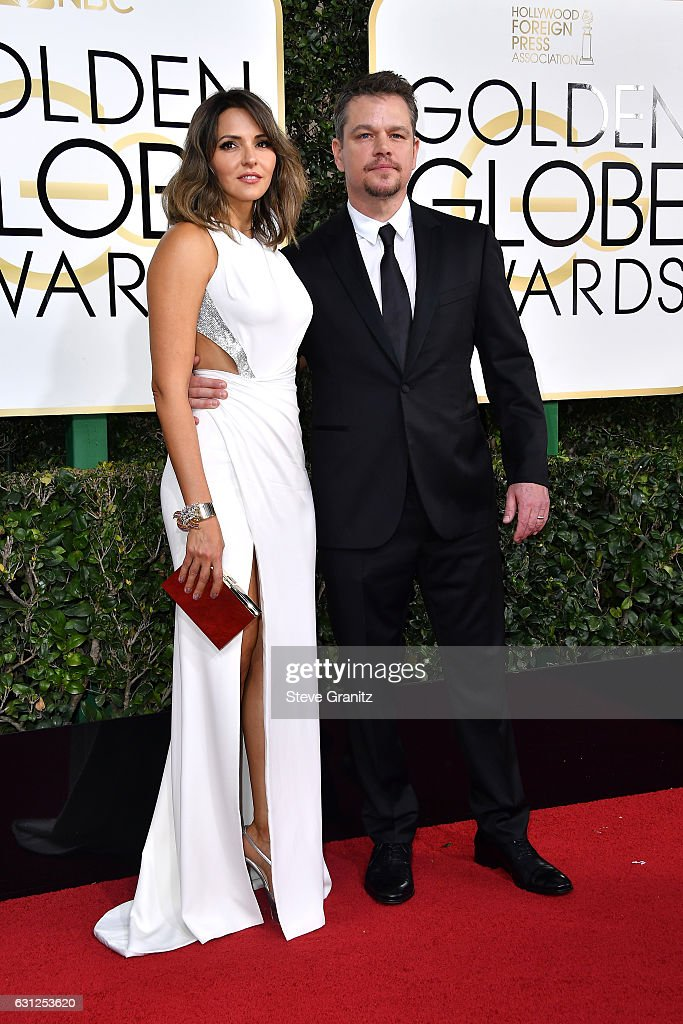 Luciana Damon and actor Matt Damon attend the 74th Annual Golden Globe Awards at The Beverly Hilton Hotel on January 8, 2017 in Beverly Hills, California.