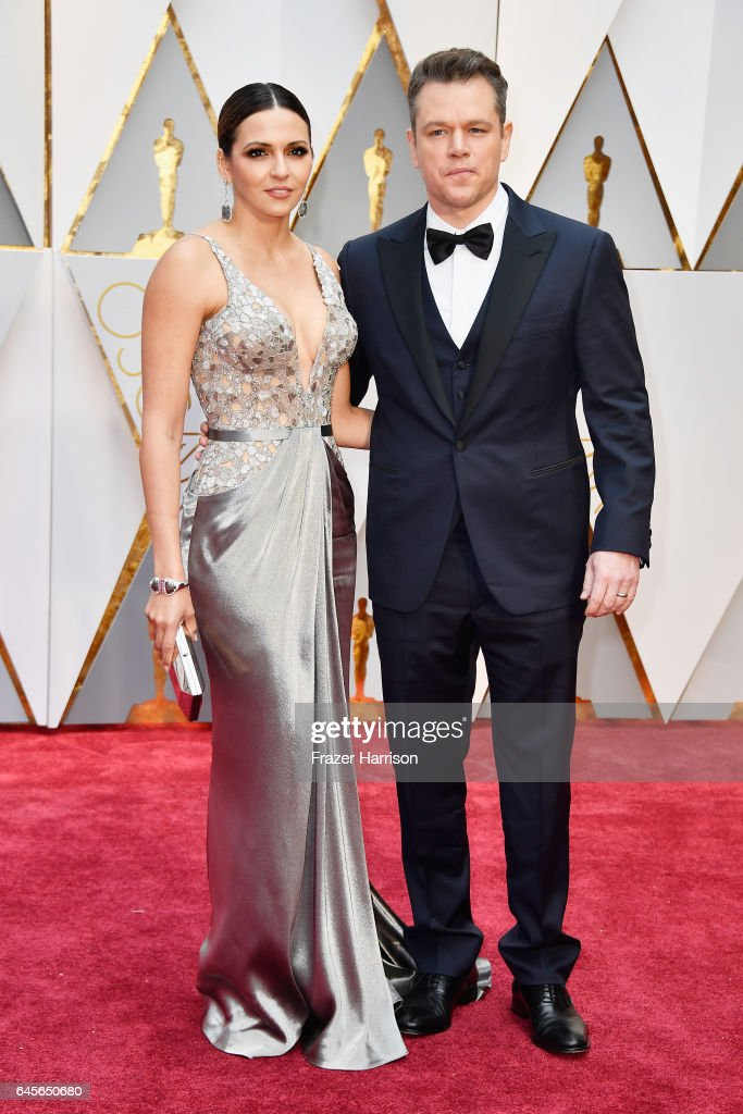 Luciana Damon (L) and actor Matt Damon attend the 89th Annual Academy Awards at Hollywood & Highland Center on February 26, 2017 in Hollywood, California.