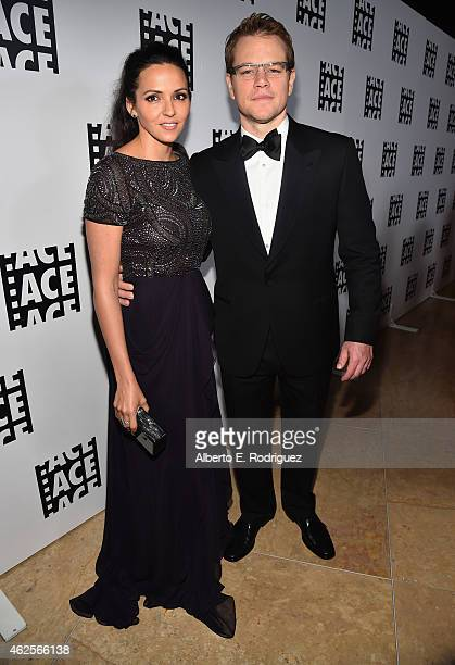 Luciana Barroso and Matt Damon attend the 65th Annual ACE Eddie Awards at The Beverly Hilton Hotel on January 30 2015 in Beverly Hills California