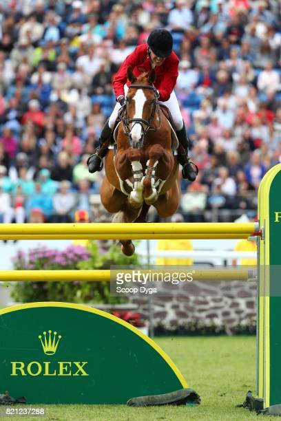 Luciana DINIZ of Portugal riding FIT FOR FUN during the Rolex Grand Prix part of the Rolex Grand Slam of Show Jumping of the World Equestrian...