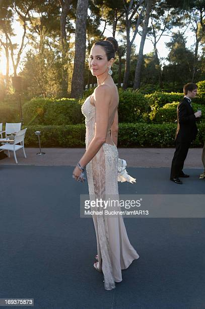 Luciana Gimenez attends amfAR's 20th Annual Cinema Against AIDS during The 66th Annual Cannes Film Festival at Hotel du CapEdenRoc on May 23 2013 in...