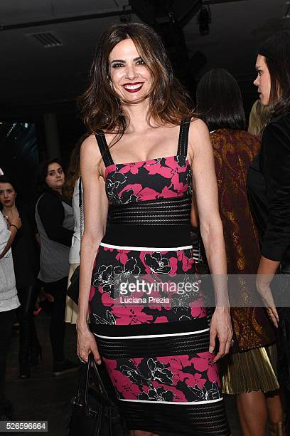 Luciana Gimenez attends Karl Lagerfeld for Riachuelo fashion show during SPFW Summer 2017 at Ibirapuera's Bienal Pavilion on April 26 2016 in Sao...