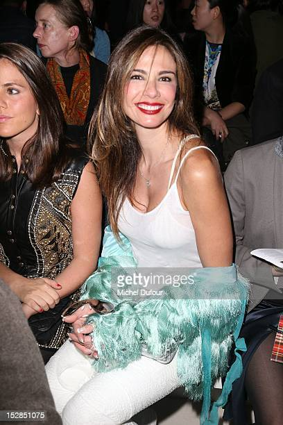 Luciana Gimenez attends the Balmain Spring / Summer 2013 show as part of Paris Fashion Week at Grand Hotel Intercontinental on September 27 2012 in...