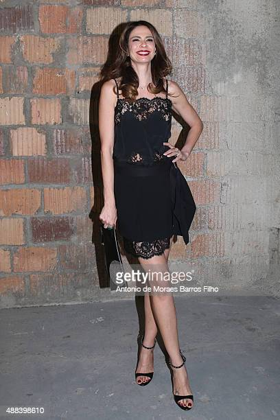 Luciana Gimenez attends the Diesel Black Gold show as a part of Spring 2016 New York Fashion Week on September 15 2015 in New York City
