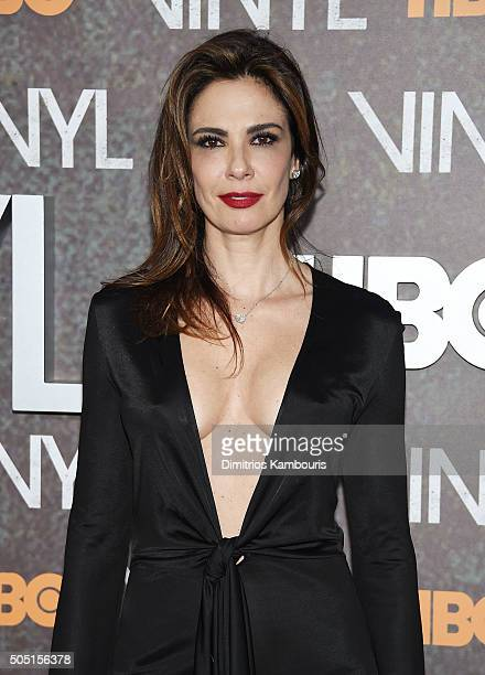 Luciana Gimenez attends the New York premiere of 'Vinyl' at Ziegfeld Theatre on January 15 2016 in New York City