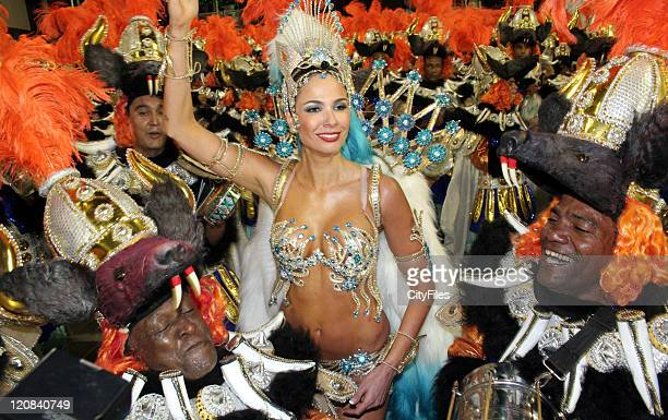 Luciana Gimenez during Rio Carnivals Samba Parades February 18 2007 in Rio De Janeiro Brazil
