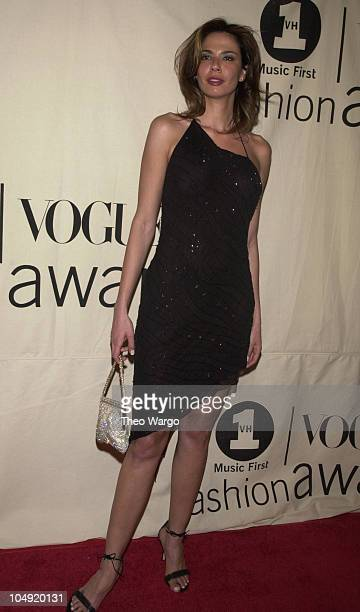 Luciana Gimenez during The 2001 VH1/Vogue Fashion Awards Arrivals at The Hammerstein Ballroom in New York City New York United States