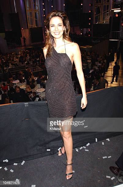 Luciana Gimenez during The 2001 VH1/Vogue Fashion Awards Backstage at The Hammerstein Ballroom in New York City New York United States
