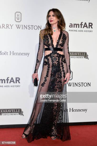 Luciana Gimenezattends the 7th Annual amfAR Inspiration Gala on April 27 2017 in Sao Paulo Brazil