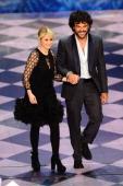 Luciana Littizzetto and Francesco Renga attend the second night of the 64th Festival di Sanremo 2014 at Teatro Ariston on February 19 2014 in Sanremo...