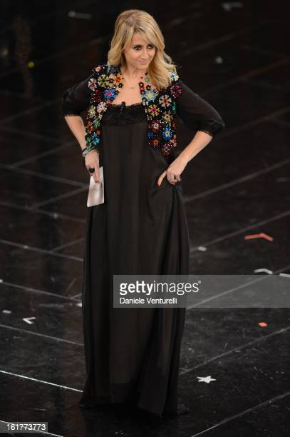 Luciana Littizzetto attend the fourth night of the 63rd Sanremo Song Festival at the Ariston Theatre on February 15 2013 in Sanremo Italy