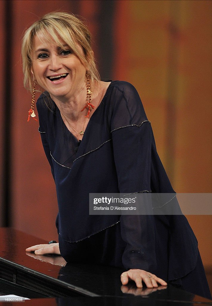 Luciana Littizzetto attends 'Che Tempo Che Fa' Italian TV Show on March 3, 2013 in Milan, Italy.