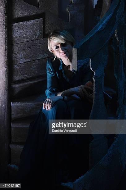 Luciana Littizzetto attends fourth night of the 64th Festival di Sanremo 2014 at Teatro Ariston on February 21 2014 in Sanremo Italy