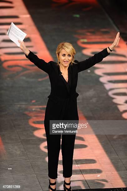 Luciana Littizzetto attends opening night of the 64th Festival di Sanremo 2014 at Teatro Ariston on February 20 2014 in Sanremo Italy