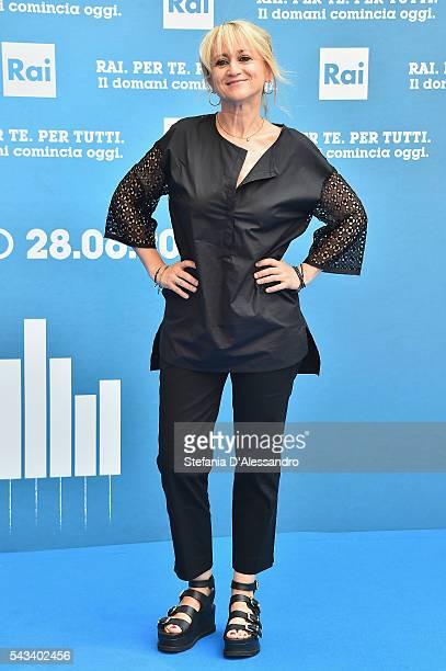 Luciana Littizzetto attends Rai Show Schedule Presentation In Milan on June 28 2016 in Milan Italy