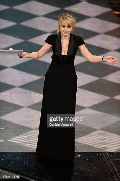 Luciana Littizzetto attends the opening night of the 64th Festival di Sanremo 2014 at Teatro Ariston on February 18 2014 in Sanremo Italy