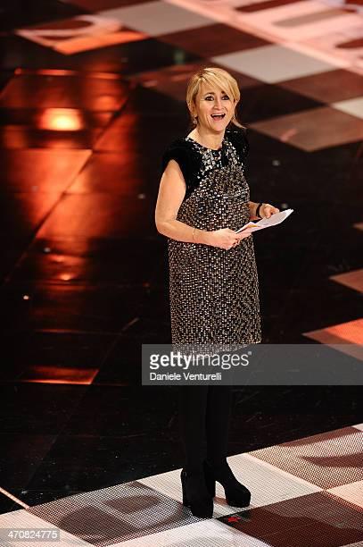Luciana Littizzetto attends the third night of the 64th Festival di Sanremo 2014 at Teatro Ariston on February 20 2014 in Sanremo Italy