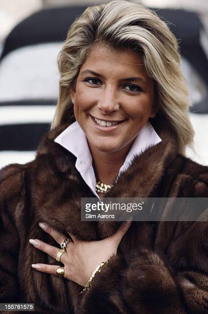 Luciana Lucchi of Milan poses wearing a fur coat in Cortina d'Ampezzo Italy March 1988