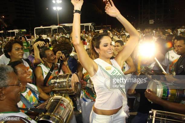 Luciana Morad Gimenez during Luciana Morad Gimenez Rehearses For The Carnival in Rio de janeiro RJ Brazil