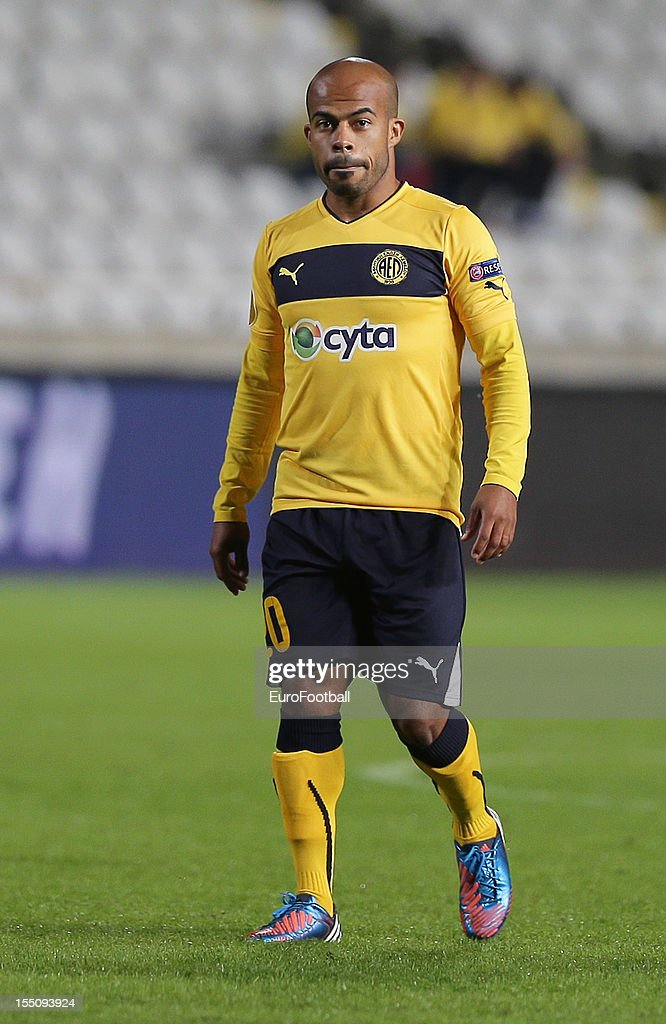 Luciano Bebe of AEL Limassol FC in action during the UEFA Europa League group stage match between AEL Limassol FC and Fenerbahce SK held on October 25, 2012 at the GSP Stadium, in Nicosia, Cyprus.
